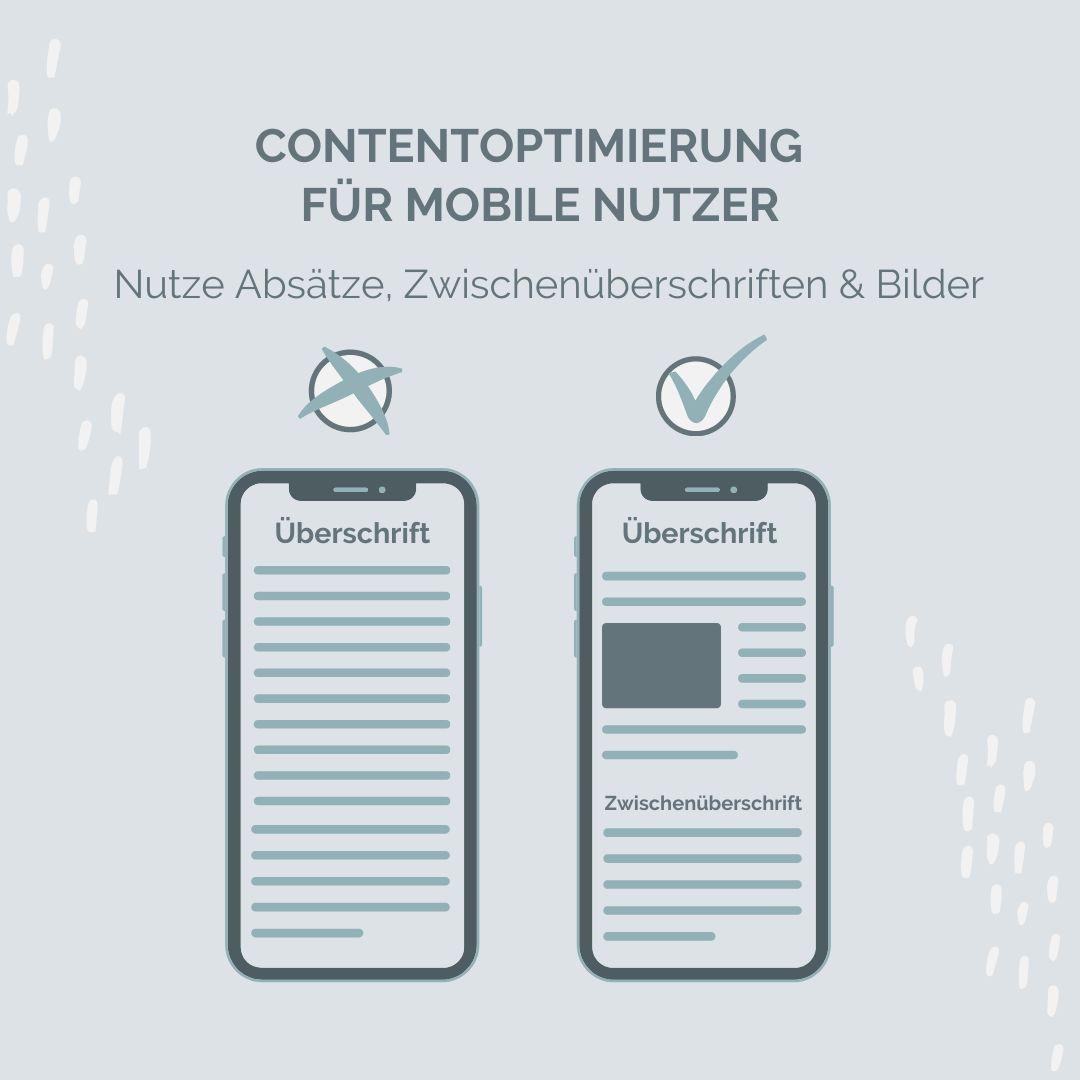 Bessere Texte für mobile Nutzer Online Texte